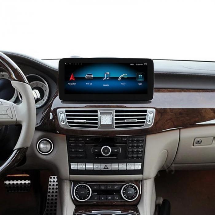 """Navigatie Mercedes CLS W218 ( 2011 - 2015 ) , 4 GB RAM si 64 GB ROM , Slot Sim 4G , Android , Display 10.25 """" rezolutie 1920*720 , Internet , Wi Fi , Usb , Bluetooth [5]"""