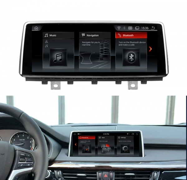 Navigatie BMW X5 F15 ( 2013 - 2017 ) , NBT , Android , 4 GB RAM + 64 GB ROM , Internet , 4G , Aplicatii , Waze , Wi Fi , Usb , Bluetooth , Mirrorlink 1