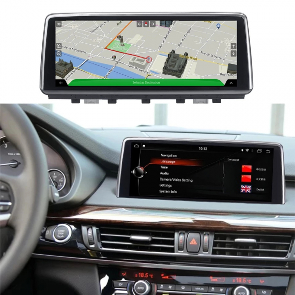 Navigatie BMW X5 F15 ( 2013 - 2017 ) , NBT , Android , 4 GB RAM + 64 GB ROM , Internet , 4G , Aplicatii , Waze , Wi Fi , Usb , Bluetooth , Mirrorlink 2