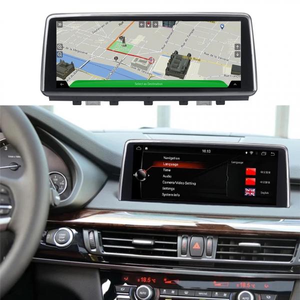 Navigatie BMW X6 F16 ( 2013 - 2017 ) , NBT , Android , 4 GB RAM + 64 GB ROM , Internet , 4G , Aplicatii , Waze , Wi Fi , Usb , Bluetooth , Mirrorlink 1