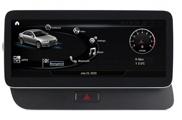 """Navigatie Audi Q5 ( 2009 - 2016) ,  Audi MMI 3G , Android , 4GB RAM +64 GB ROM , Slot Sim 4G LTE , Display 10.25 """" rez 1920*720 , Procesor Octa Core , Internet 0"""