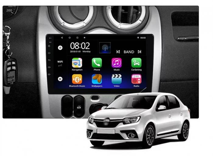 Navigatie Dacia Logan ( 2009 - 2016 ) , 4 GB RAM + 64 GB ROM , Slot Sim 4G pentru Internet , Carplay , Android , Aplicatii , Usb , Wi Fi , Bluetooth [5]