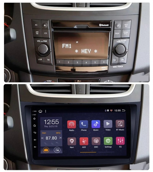 Navigatie Suzuki Swift ( 2010 - 2017 ) , Android , Display 9 inch , 2GB RAM +32 GB ROM , Internet , 4G , Aplicatii , Waze , Wi Fi , Usb , Bluetooth , Mirrorlink 1