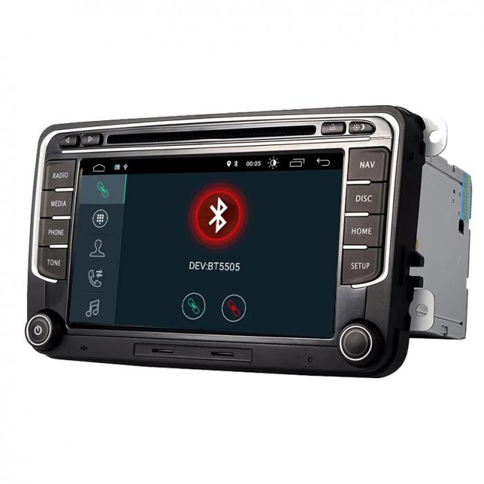Navigatie VW Golf 5 6 Passat B6 B7 CC Eos Tiguan Touran Jetta Polo Sharan Amarok Caddy , 4 GB RAM + 64 GB ROM , Slot Sim 4G pentru Internet , Carplay , Android Usb , Wi Fi , Bluetooth [3]