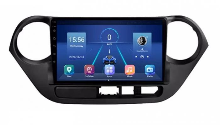 Navigatie Hyundai i10 ( 2013 - 2017 ) , Android , Display 9 inch , 2 GB RAM si 32 GB ROM , Internet , 4G , Aplicatii , Waze , Wi Fi , Usb , Bluetooth , Mirrorlink [3]