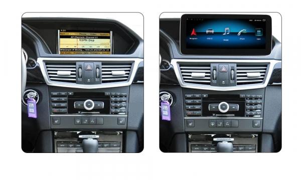 "Navigatie Mercedes E Class W212 ( 2012 - 2014) ,  Android , NTG 4.5 , 4GB RAM + 64 GB ROM , Slot Sim 4G LTE , Display 10.25 "" rez 1920*720 , Procesor Octa Core , Internet , Aplicatii , Waze , Wi Fi , 2"