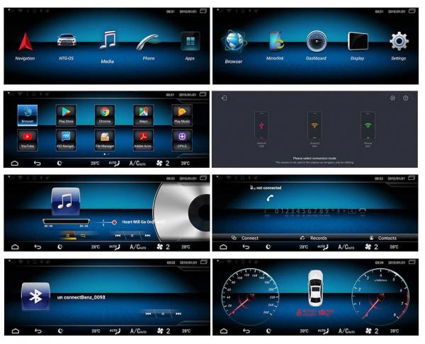 "Navigatie Mercedes E Class W212 ( 2012 - 2014) ,  Android , NTG 4.5 , 4GB RAM + 64 GB ROM , Slot Sim 4G LTE , Display 10.25 "" rez 1920*720 , Procesor Octa Core , Internet , Aplicatii , Waze , Wi Fi , 10"