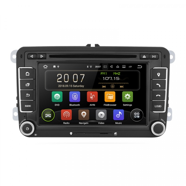 Navigatie Gps Skoda Octavia 2 Fabia Superb 2 Roomster Yeti , Android 9.0 , 2 GB RAM + 16 GB ROM , Internet , 4G , Aplicatii , Waze , Wi Fi , Usb , Bluetooth , Mirrorlink 0