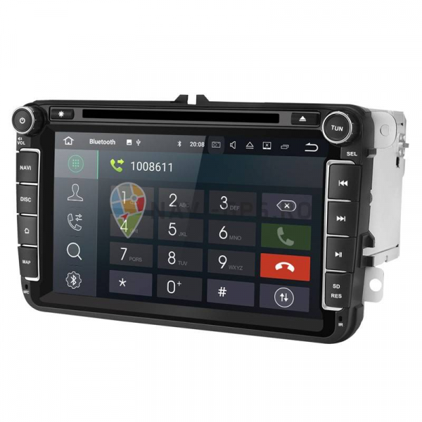 Navigatie Gps 8 inch VW Golf 5 6 Passat B6 B7 CC Tiguan Touran Jetta Eos Polo Sharan Amarok Caddy , Android 9.0 , 2GB RAM + 16 GB ROM , Internet , 4G , Aplicatii , Waze , Wi Fi , Usb , Bluetooth 1