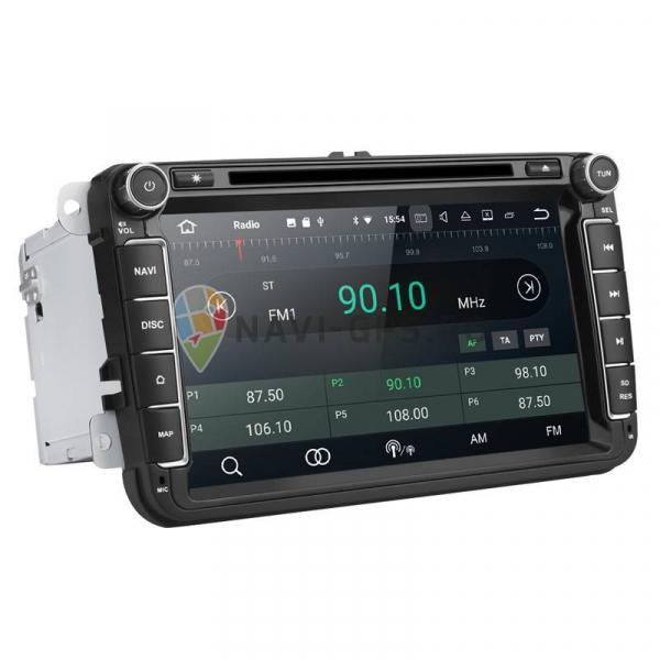 Navigatie Gps 8 inch VW Golf 5 6 Passat B6 B7 CC Tiguan Touran Jetta Eos Polo Sharan Amarok Caddy , Android 9.0 , 2GB RAM + 16 GB ROM , Internet , 4G , Aplicatii , Waze , Wi Fi , Usb , Bluetooth 2