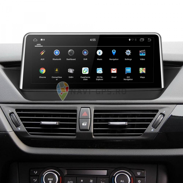"Navigatie BMW X1 E84 (2009 - 2014 ) , Android , Touchscreen 10.25 "" IPS , 4 GB RAM + 32 GB ROM , Internet , 4G , Aplicatii , Waze , Wi Fi , Usb , Bluetooth , Mirrorlink 1"