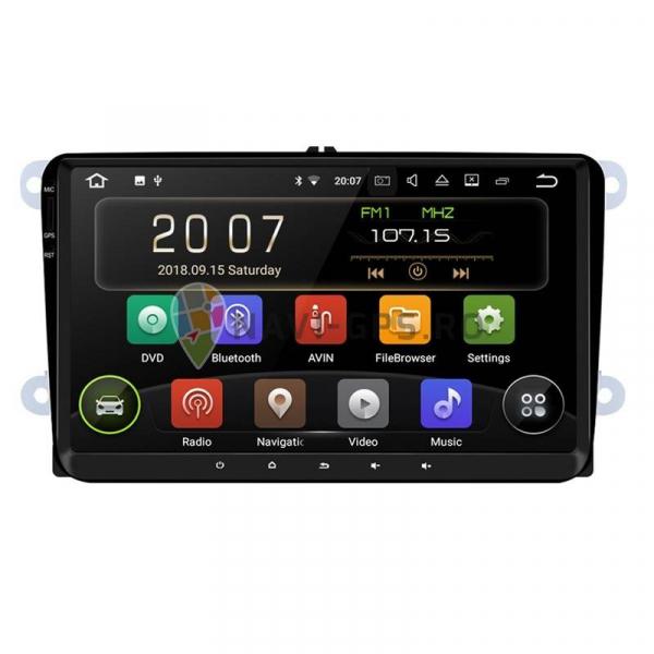 Navigatie Gps 9 inch Skoda Octavia 2 Fabia Superb 2 Roomster Yeti , Android 9.0 , 2 GB RAM +16 GB ROM , Internet , 4G , Aplicatii , Waze , Wi Fi , Usb , Bluetooth , Mirrorlink 0
