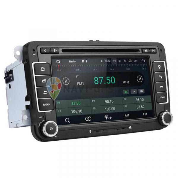 RESIGILATA Navigatie Gps VW Golf 5 6 Passat B6 B7 CC Tiguan Touran Jetta Eos Polo Sharan Amarok Caddy , Android 9.0 , Internet , 4G , Aplicatii , Waze , Wi Fi , Usb , Bluetooth , Mirrorlink 2