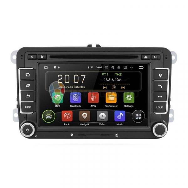 RESIGILATA Navigatie Gps VW Golf 5 6 Passat B6 B7 CC Tiguan Touran Jetta Eos Polo Sharan Amarok Caddy , Android 9.0 , Internet , 4G , Aplicatii , Waze , Wi Fi , Usb , Bluetooth , Mirrorlink 0