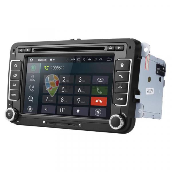 RESIGILATA Navigatie Gps VW Golf 5 6 Passat B6 B7 CC Tiguan Touran Jetta Eos Polo Sharan Amarok Caddy , Android 9.0 , Internet , 4G , Aplicatii , Waze , Wi Fi , Usb , Bluetooth , Mirrorlink 1