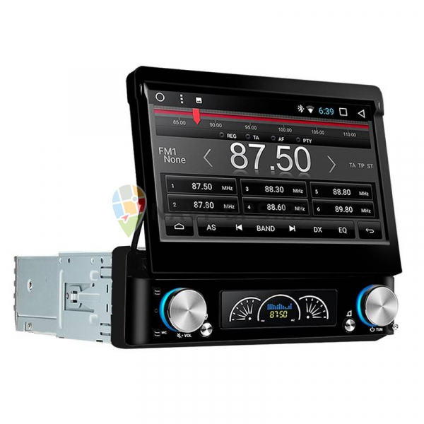 Navigatie Gps Universala 1DIN cu ecran retractabil , Android , 2GB RAM + 16 GB ROM , Internet , 4G , Aplicatii , Waze , Wi Fi , Usb , Bluetooth , Mirrorlink 2