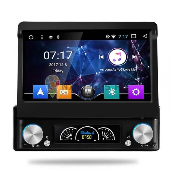 Navigatie Gps Universala 1DIN cu ecran retractabil , Android , 2GB RAM + 16 GB ROM , Internet , 4G , Aplicatii , Waze , Wi Fi , Usb , Bluetooth , Mirrorlink 1
