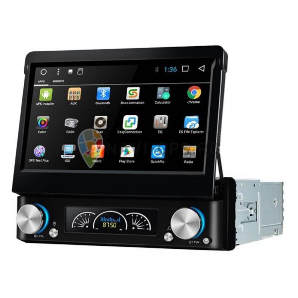 Navigatie Gps Universala 1DIN cu ecran retractabil , Android , 2GB RAM + 16 GB ROM , Internet , 4G , Aplicatii , Waze , Wi Fi , Usb , Bluetooth , Mirrorlink 0