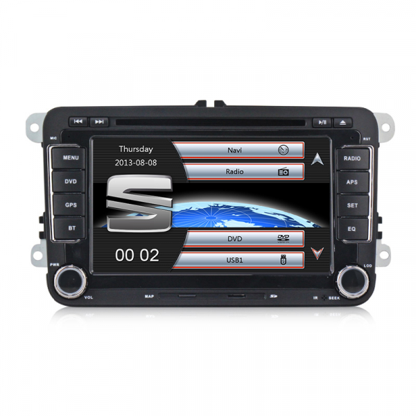 Navigatie Seat Leon Altea Toledo Alhambra , Windows 6.0 , Dvd Player , Usb , Bluetooth , Card 8GB Europa full 0
