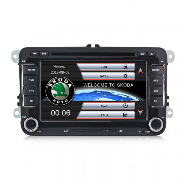 Navigatie Gps Skoda Octavia 2 Fabia Superb 2 Roomster Yeti , Windows 6.0 , Dvd Player , Usb , Bluetooth , Card 8GB Europa full 0