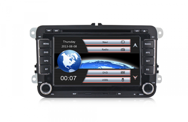 Navigatie Gps Skoda Octavia 2 Fabia Superb 2 Roomster Yeti , Windows 6.0 , Dvd Player , Usb , Bluetooth , Card 8GB Europa full 1