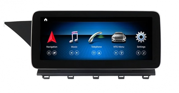 "Navigatie Mercedes GLK X204 ( 2008 - 2012) , Android , NTG 4.0 , 8 GB RAM + 64 GB ROM , Slot Sim 4G LTE , Display 10.25 "" rez 1920*720 , Procesor Octa Core , Internet , Aplicatii , Waze , Wi Fi , Usb 0"