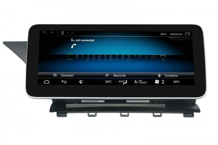 "Navigatie Mercedes GLK X204 ( 2013 - 2015) , Android , NTG 4.5 , 4 GB RAM + 64 GB ROM , Slot Sim 4G LTE , Display 10.25 "" rez 1920*720 , Procesor Octa Core , Internet , Aplicatii , Waze , Wi Fi , Usb [3]"
