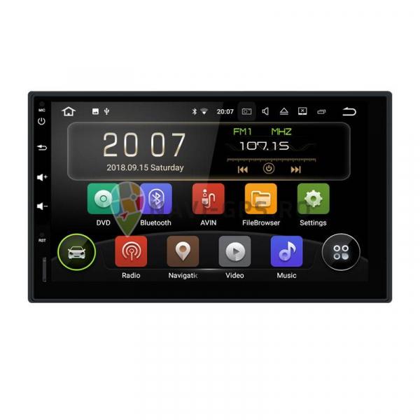 Navigatie Gps Universala 2DIN Android 9.0 , 2GB RAM + 16GB ROM , Internet , 4G , Aplicatii , Waze , Wi Fi , Usb , Bluetooth , Mirrorlink 0