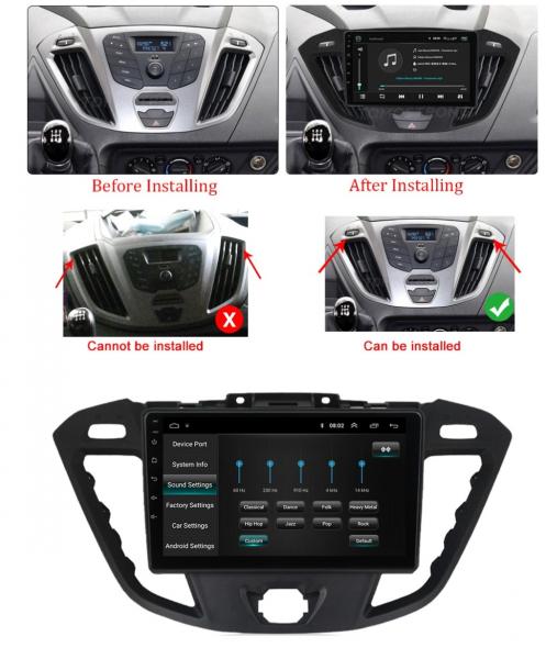 Navigatie Ford Transit ( 2012 - 2019 ) , Android , Display 9 inch , 2GB RAM +32 GB ROM , Internet , 4G , Aplicatii , Waze , Wi Fi , Usb , Bluetooth , Mirrorlink 1