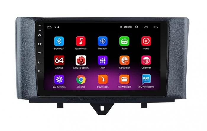 Navigatie Smart ForTwo ( 2010 - 2015 ) Android , Display 9 inch , 2 GB RAM si 32 GB ROM , Internet , 4G , Aplicatii , Waze , Wi Fi , Usb , Bluetooth , Mirrorlink [0]