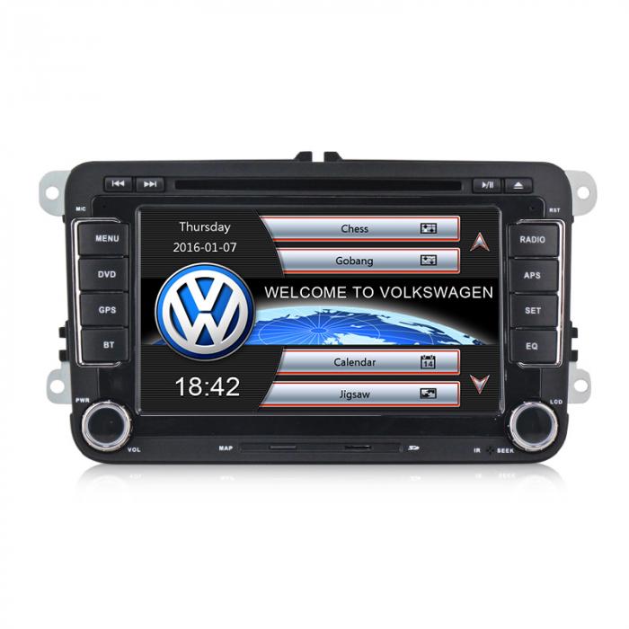 RESIGILATA Navigatie VW Golf 5 6 Passat B6 B7 CC Tiguan Touaran Jetta Eos Polo Amarok Caddy , Windows 6.0 , Dvd Player , Usb , Bluetooth , Card 8GB Europa full [0]