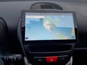 Navigatie Peugeot 107 ( 2005 - 2015 ) , Android , Display 10 inch , 2GB RAM +32 GB ROM , Internet , 4G , Aplicatii , Waze , Wi Fi , Usb , Bluetooth , Mirrorlink3