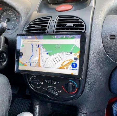 Navigatie Peugeot 206 , Android , Display 9 inch , 2GB RAM +32 GB ROM , Internet , 4G , Aplicatii , Waze , Wi Fi , Usb , Bluetooth , Mirrorlink3