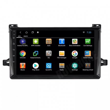 Navigatie Toyota Prius ( 2015 + ) , Android , Display 9 inch , 2GB RAM +32 GB ROM , Internet , 4G , Aplicatii , Waze , Wi Fi , Usb , Bluetooth , Mirrorlink3