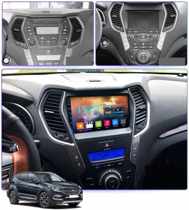 Navigatie Hyundai Santa Fe ix 45 ( 2012 - 2017 ) , Android , Display 9 inch , 2GB RAM +32 GB ROM , Internet , 4G , Aplicatii , Waze , Wi Fi , Usb , Bluetooth , Mirrorlink2
