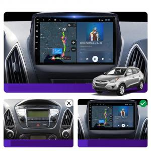Navigatie Hyundai ix 35 Tucson ( 2009 - 2015 ) , Android , Display 9 inch , 2GB RAM +32 GB ROM , Internet , 4G , Aplicatii , Waze , Wi Fi , Usb , Bluetooth , Mirrorlink4