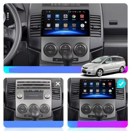 Navigatie Mazda 5 ( 2005 - 2010 ) , Android , Display 9 inch , 2 GB RAM + 32 GB ROM , Internet , 4G , Aplicatii , Waze , Wi Fi , Usb , Bluetooth , Mirrorlink [5]