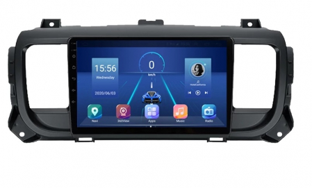 Navigatie Citroen Jumpy 3 Spacetourer ( 2016 - 2021 ) , Android , Display 9 inch , 2GB RAM si 32 GB ROM , Internet , 4G , Aplicatii , Waze , Wi Fi , Usb , Bluetooth , Mirrorlink [3]
