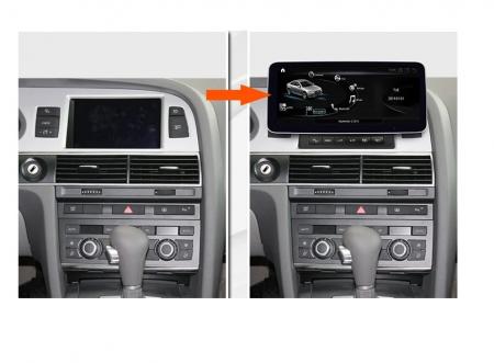 """Navigatie Audi A6 ( 2005 - 2011 ) MMI , 4 GB RAM si 64 GB ROM , Slot Sim 4G , Android , Display 10.25 """" , Internet , Wi Fi , Usb , Bluetooth [1]"""