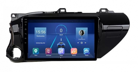 Navigatie Toyota Hilux ( 2015 - 2020 ) , Android , Display 9 inch , 2GB RAM +32 GB ROM , Internet , 4G , Aplicatii , Waze , Wi Fi , Usb , Bluetooth , Mirrorlink0