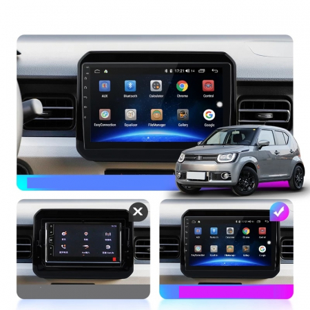 Navigatie Suzuki Ignis ( 2016 - 2020 ) , Android , Display 9 inch , 2GB RAM +32 GB ROM , Internet , 4G , Aplicatii , Waze , Wi Fi , Usb , Bluetooth , Mirrorlink [3]