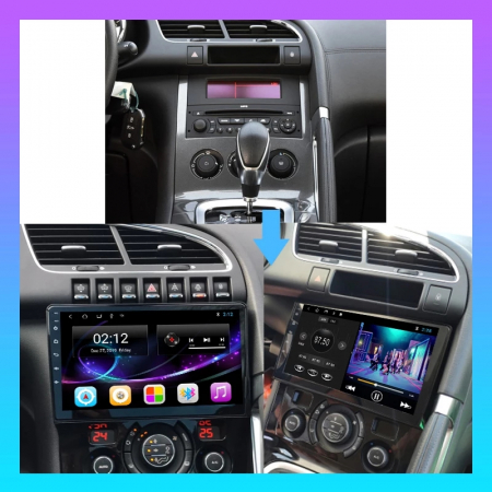 Navigatie Peugeot 3008 Citroen 3008 ( 2009 - 2018 ) , 4 GB RAM + 64 GB ROM , Slot Sim 4G pentru Internet , Carplay , Android , Aplicatii , Usb , Wi Fi , Bluetooth3