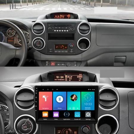 Navigatie Citroen Berlingo ( 2008 - 2019 ) , Android , Display 9 inch , 2GB RAM +32 GB ROM , Internet , 4G , Aplicatii , Waze , Wi Fi , Usb , Bluetooth , Mirrorlink [1]