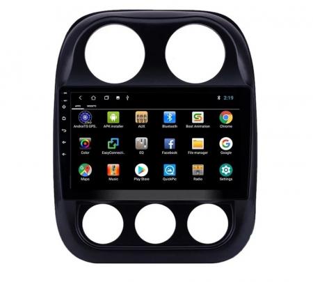 Navigatie Jeep Compass ( 2010 - 2016 ) , Android , Display 9 inch , 2GB RAM +32 GB ROM , Internet , 4G , Aplicatii , Waze , Wi Fi , Usb , Bluetooth , Mirrorlink6
