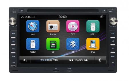Navigatie VW Golf 4 Passat B5 Bora Polo Transporter T5 Sharan Skoda Octavia 1 , Windows 6.0 , Dvd Player , Usb , Bluetooth , Card 8GB [0]