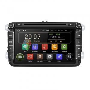 Navigatie Gps 8 inch VW Golf 5 6 Passat B6 B7 CC Tiguan Touran Jetta Eos Polo Sharan Amarok Caddy , Android 9.0 , 2GB RAM + 16 GB ROM , Internet , 4G , Aplicatii , Waze , Wi Fi , Usb , Bluetooth0