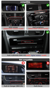 "Navigatie Audi A4 A5 B8 ( 2009 - 2016) , Audi Concert / Symphony , Android , 4GB RAM +64 GB ROM , Slot Sim 4G LTE , Display 10.25 "" rez 1920*720 , Procesor Octa Core , Internet8"