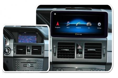 "Navigatie Mercedes GLK X204 ( 2013 - 2015) , Android , NTG 4.5 , 4 GB RAM + 64 GB ROM , Slot Sim 4G LTE , Display 10.25 "" rez 1920*720 , Procesor Octa Core , Internet , Aplicatii , Waze , Wi Fi , Usb [4]"
