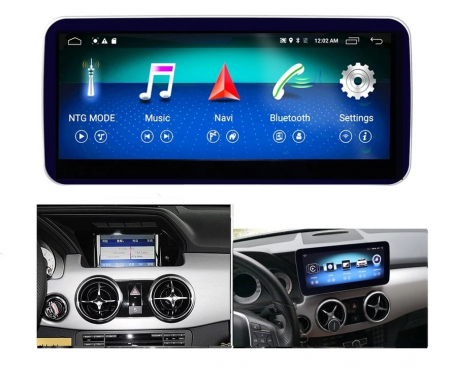 "Navigatie Mercedes GLK X204 ( 2013 - 2015) , Android , NTG 4.5 , 4 GB RAM + 64 GB ROM , Slot Sim 4G LTE , Display 10.25 "" rez 1920*720 , Procesor Octa Core , Internet , Aplicatii , Waze , Wi Fi , Usb [2]"