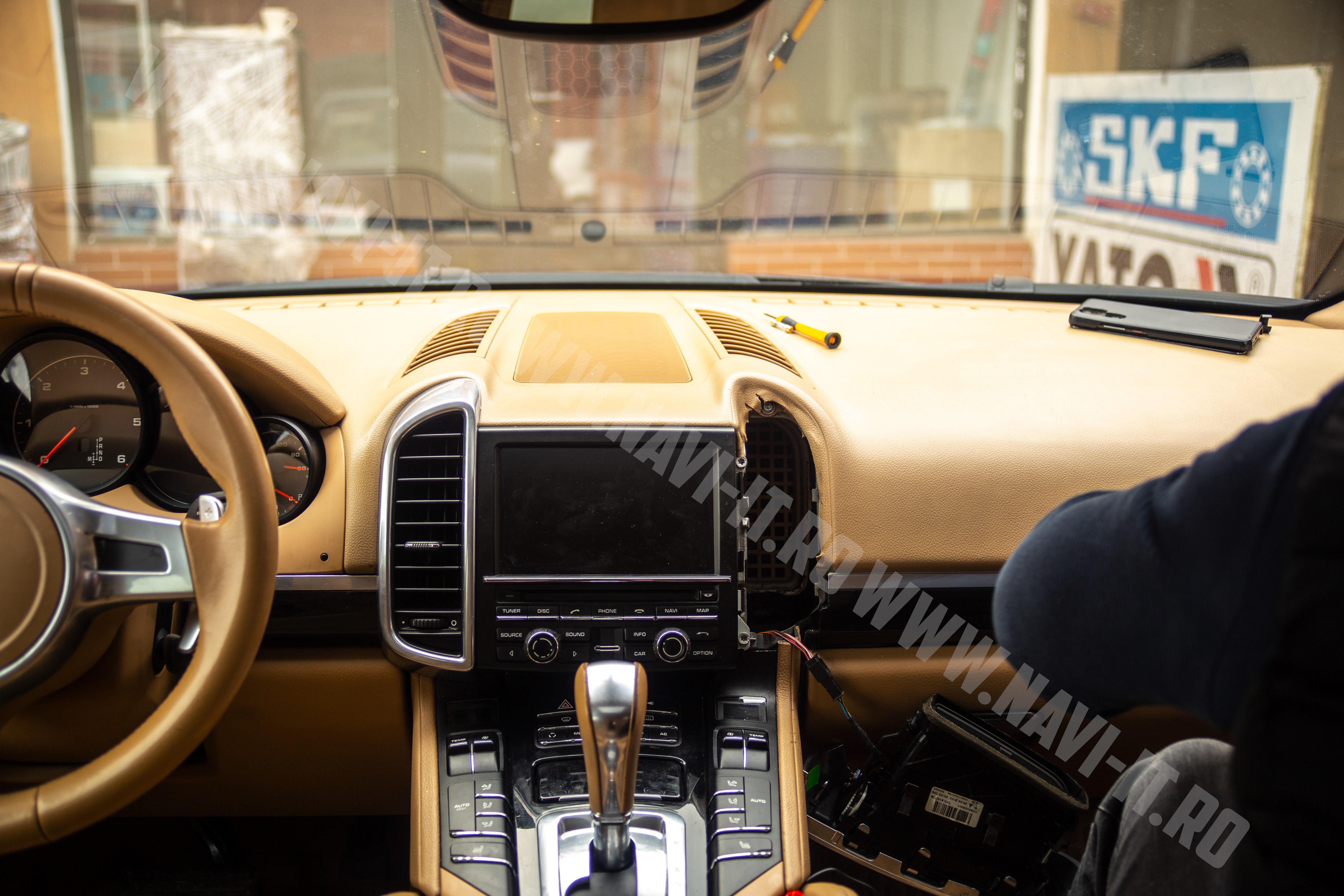 Montaj navigatie PX5 4GB RAM 64 GB ROM, RDS, DSP, 4G pentru Porsche Cayenne 2014